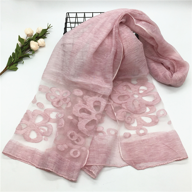 2018 NEW cotton organza scarf cut flower hijab fashion women scarves and shawls brand wrap soft muffler luxury islamic hijabs