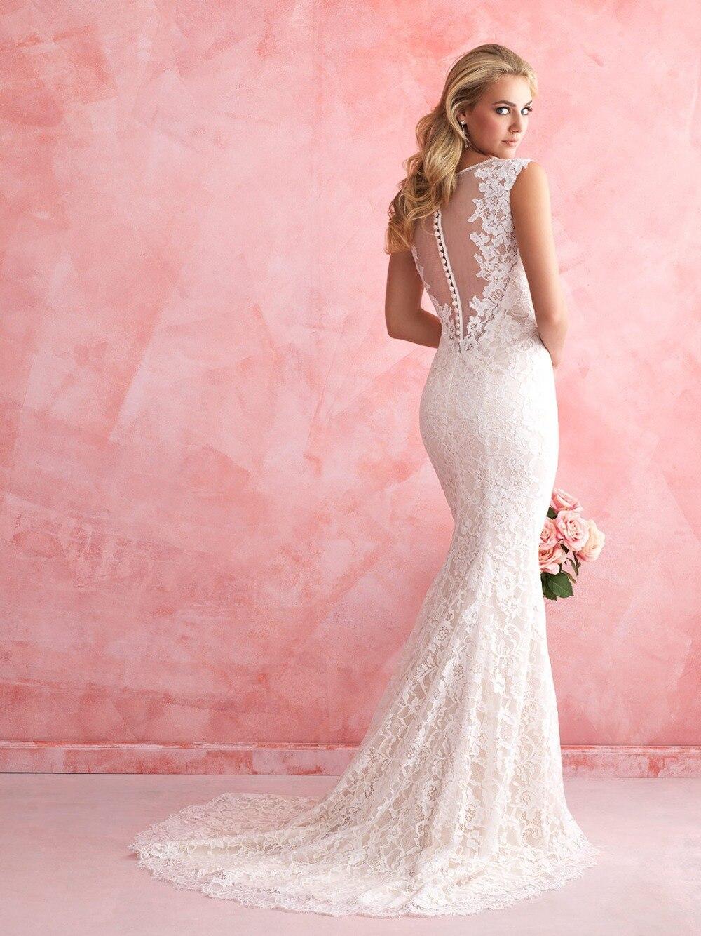 vestido de noiva 2016 sexy romantic hot Sale lace mermaid Wedding ...