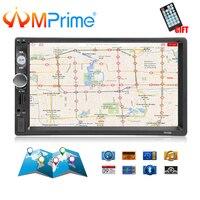 AMPrime 7010G 2 Din Car Radio GPS Navigation Autoradio Bluetooth AUX USB MP3 Stereo Audio FM Radio 2din Multimedia Player Camera