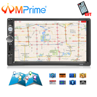 AMPrime 7010G 2 Din Car Radio GPS Navigation Autoradio Bluetooth AUX USB MP3 Stereo Audio FM Radio 2din Multimedia Player Camera
