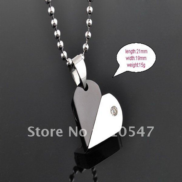 fashion titanium steel pendant 316L Stainless steel love rotational pendant bead necklace jewelry best gift  DZ114