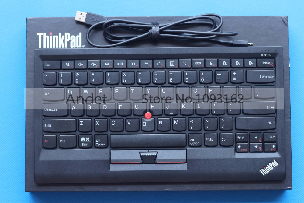 New Original Lenovo ThinkPad Bluetooth Keyboard Support Window Android IOS Multi Connect with Trackpoint US English 4X30K12182 new original laptop keyboard for lenovo thinkpad t460p t460s us keyboard english with backlit backlight 00ur395 00ur355