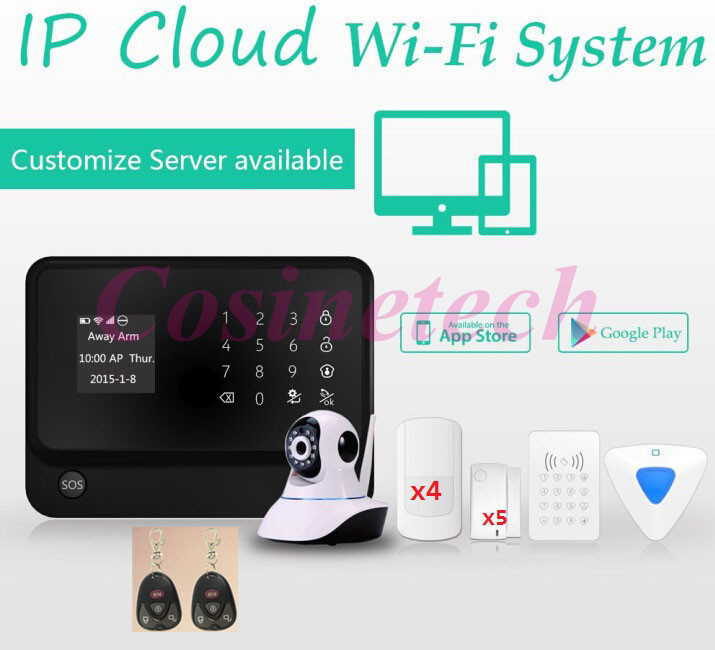 fuers russian english wifi gsm home alarm system security phone apps control russian alarm with ip camera wifi gsm alarm system APP controlled smart home Security WIFI GSM alarm system IP camera alarm system with menu in English,Spanish,French,Russian