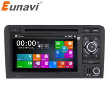 Eunavi 2 Din 7 inch Car GPS Navigation DVD Player Stereo Video For Audi A3 2003-2013 S3 RS3 in dash touch screen usb dab+ swc new 151mm 116mm original handwritten 7 inch car dvd navigation gps touch screen panel free shipping 151 116