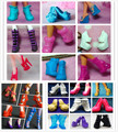 Wholesale 50 Pairs/Lot TOP Quality High Heels Boots Sandals Shoes For Monster Dolls Multi Mixed Styles Doll Toy Shoes Girls Gift