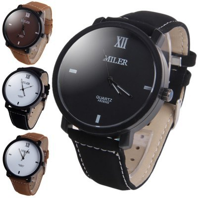 MILER Luxury Brand Watch Leather Band Quartz Watch Casual Sport Watches Men Fashion Military Wrist watch Hour relogio masculino relogio masculino watch fashion lovers men women leather band quartz analog wrist watch casual bracelet watches wrist wholesale