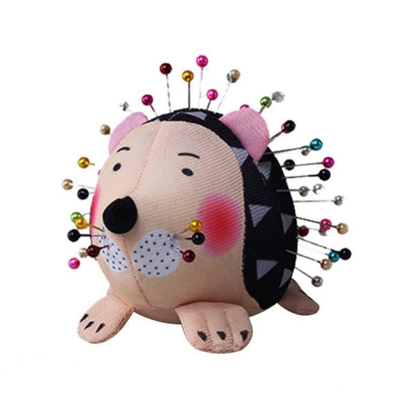 Sewing Pincushion Hedgehog Shape Soft Cotton Fabric Pin Cushion Pin Patchwork Holder Cute Arts Crafts And Sewing Pincushions