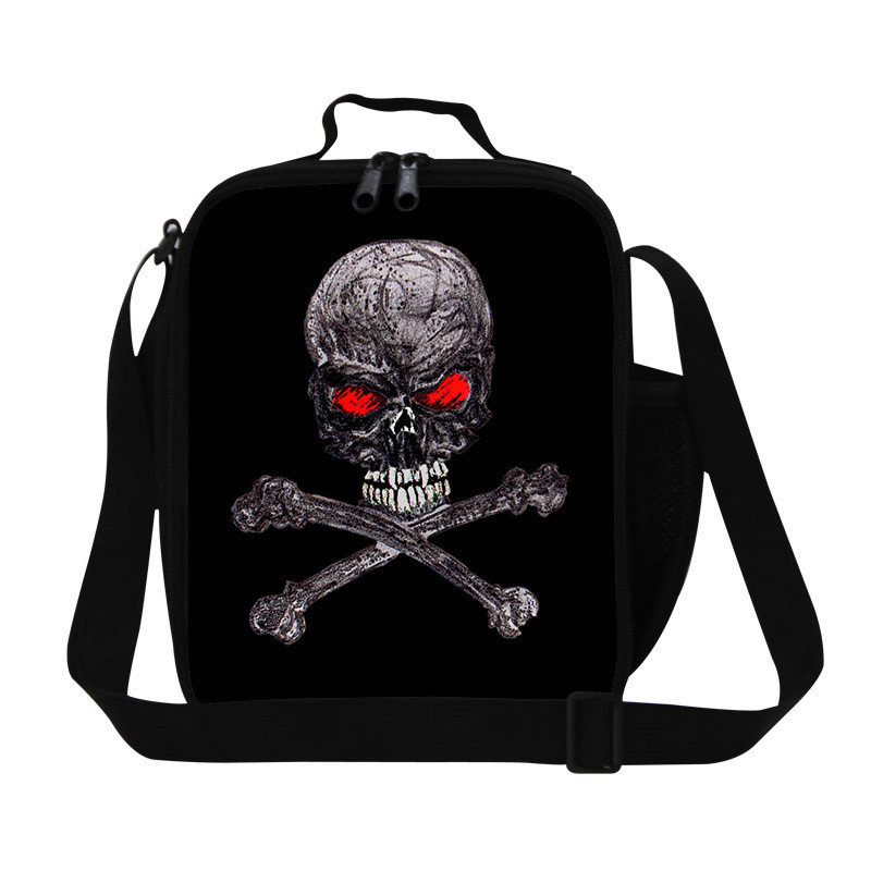 New Design Child Lunch Bags Skull Printing Students Lunchbox for Girls Boys Animal Lunch Bags for Women Insulated Thermal Bags