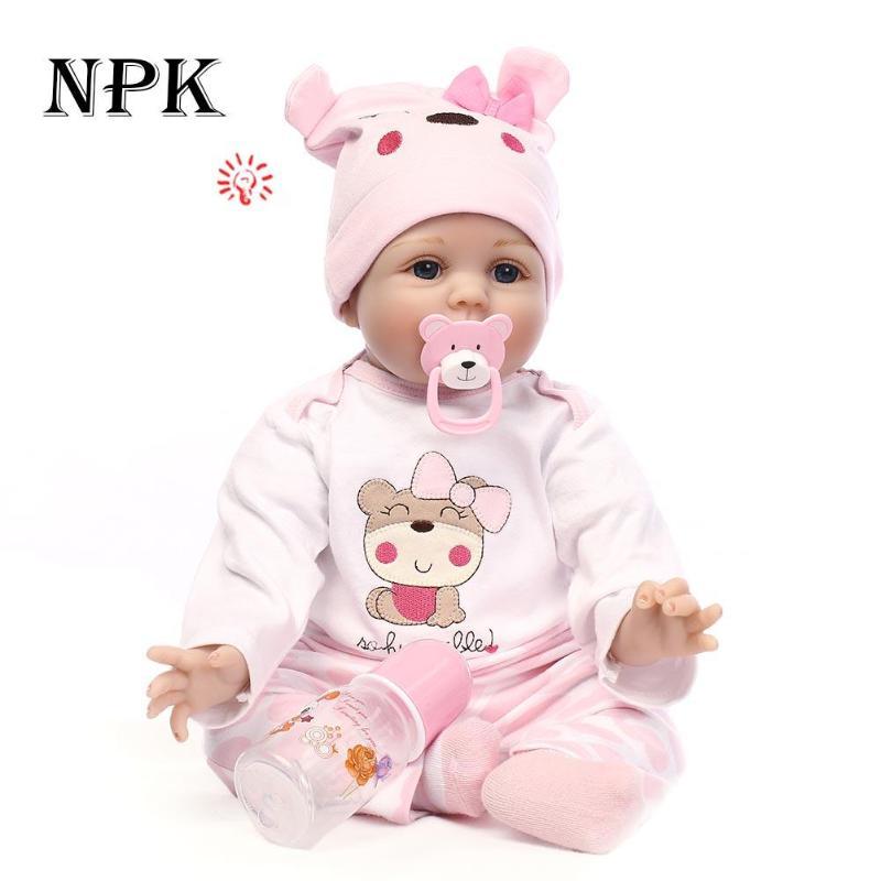 55 см мягкие силиконовые возрождается Куклы маленьких Реалистичная кукла Reborn 21.65 дюймов полный винил Boneca Bebe Кукла реборн для Обувь для девоч...
