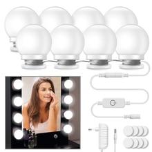 Kit de 10 bombillas LED de espejo de maquillaje para tocador, Bombilla de Espejos de maquillaje para cosméticos, brillo ajustable, espejo de belleza