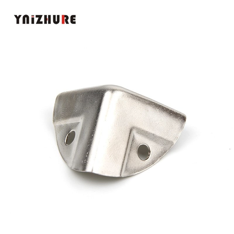 26*26*26mm,4Pcs Antique Style Metal Box Corner Iron Protection Case Edge Guard Corner Cover,Chrome Color