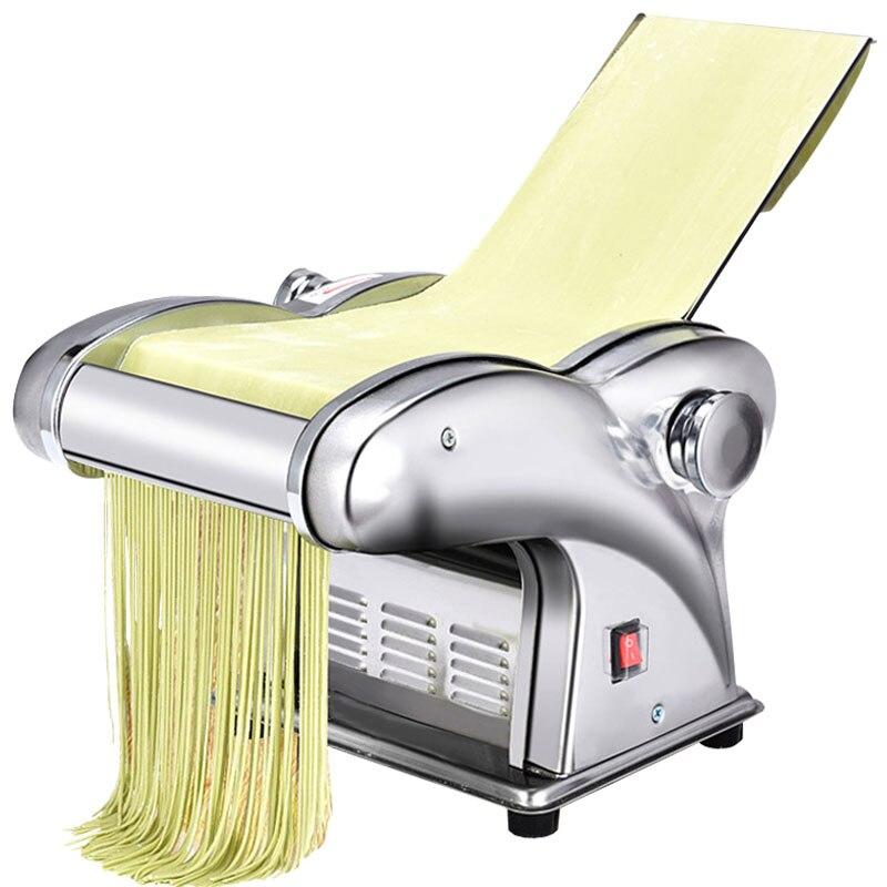 Machine de presse de nouilles automatique commerciale en acier inoxydable électrique fabricant de pâtes machine coupe-pâte boulette machine à peau 220 V