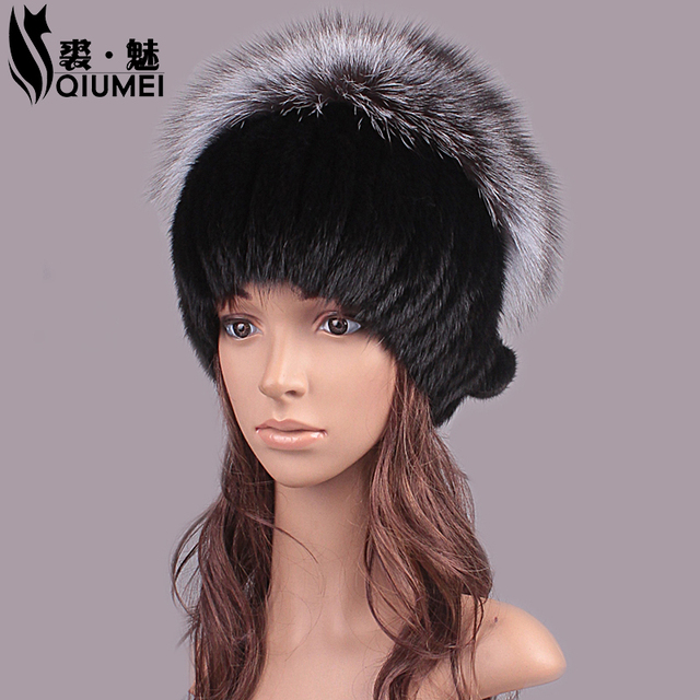 Women Winter Hat Tailor 2016 New Real Fur Pom Fluffy Balls Hat Girl Caps Fox Ball Mink Fur Fashion Russian Cap Hat For Women
