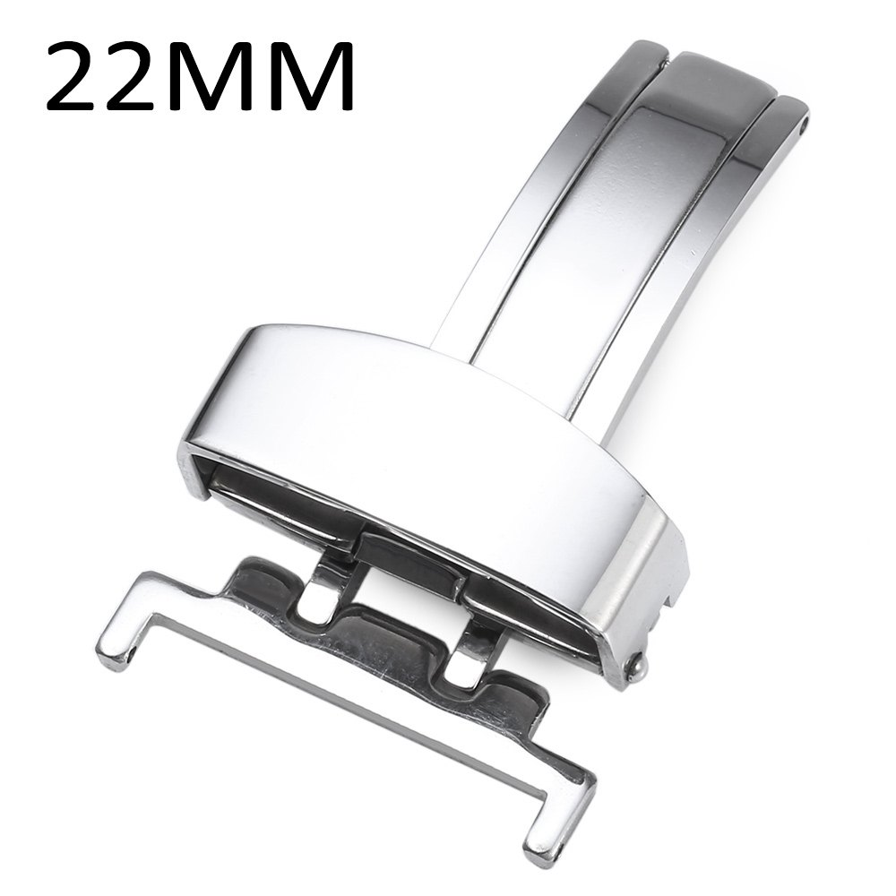Stainless Steel Deployment Butterfly Clasp Watch Buckle 12MM 14MM 16MM 18MM 20MM 22MM stainless steel watch buckle 16mm 18mm 20mm for blue balloon pasha watchband polished finish butterfly deployment clasp silver