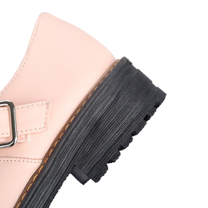 Image 5 - 2020 Shoes Women Round Toe Spring Pumps new Chunky High Heels Mary Jane Causal Ladies Shoes Thick Heels White Pink Black 34 43