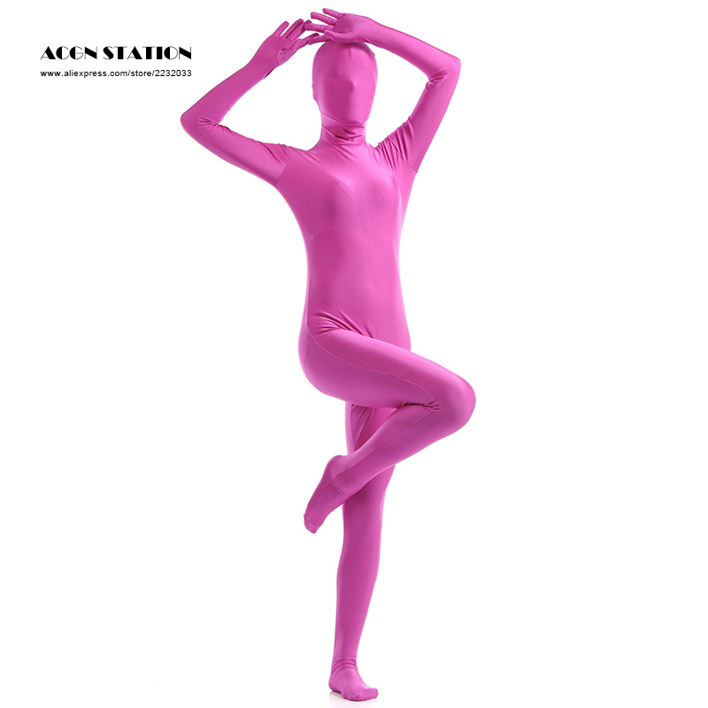24hrs Deep Pink Lycra Spandex Zentai Suit for Women Female Halloween Jumpsuit Romper  Rush order/Same day shipping/24-hour ship