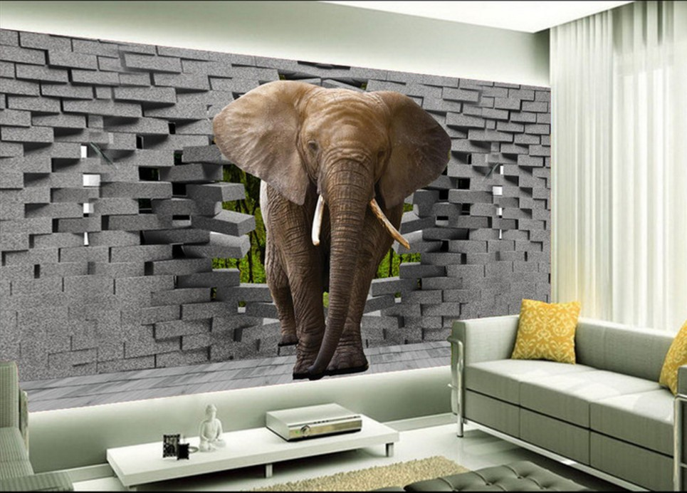 Free Shipping 3D stereo custom wallpaper mural Thai elephant cartoon wallpaper children room theme restaurant mural  free shipping 3d stereo angel rome column fantasy wallpaper mural custom dining room children room background wallpaper