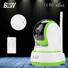 Беспроводной HD 720 P IP CCTV Камеры Wi-Fi P/T ИК Ночного видения + Инфракрасный Motion Sensor + Детектор Дыма камеры Видеонаблюдения камера