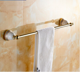 Brass & Ceramic Made,Wall Mounted Single Towel Bar,60 cm Bathroom Towel Holder, Brass Towel Rack ,Bathroom Accessories managing projects made simple