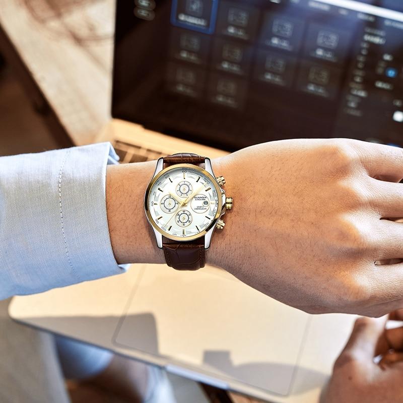 GUANQIN GS19112 watches men luxury brand quartz watch multi-functional men's watch trend sports luminous waterproof calendar 39