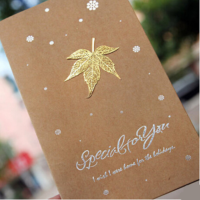 5pcs golden leaves greeting cardinvitation cardsbest wishes thanks 5pcs golden leaves greeting cardinvitation cardsbest wishes thanks card congratulation happy birthday m4hsunfo