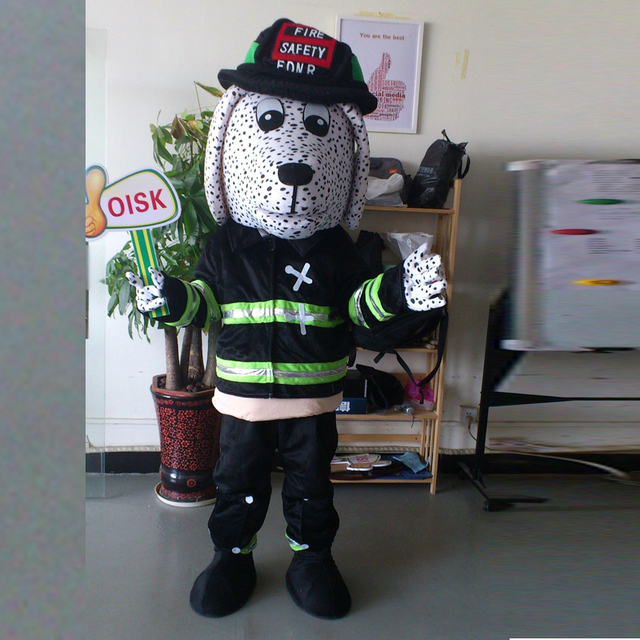 Ohlees Actual Real Picture Dalmatians Fire Dog With Hat Mascot