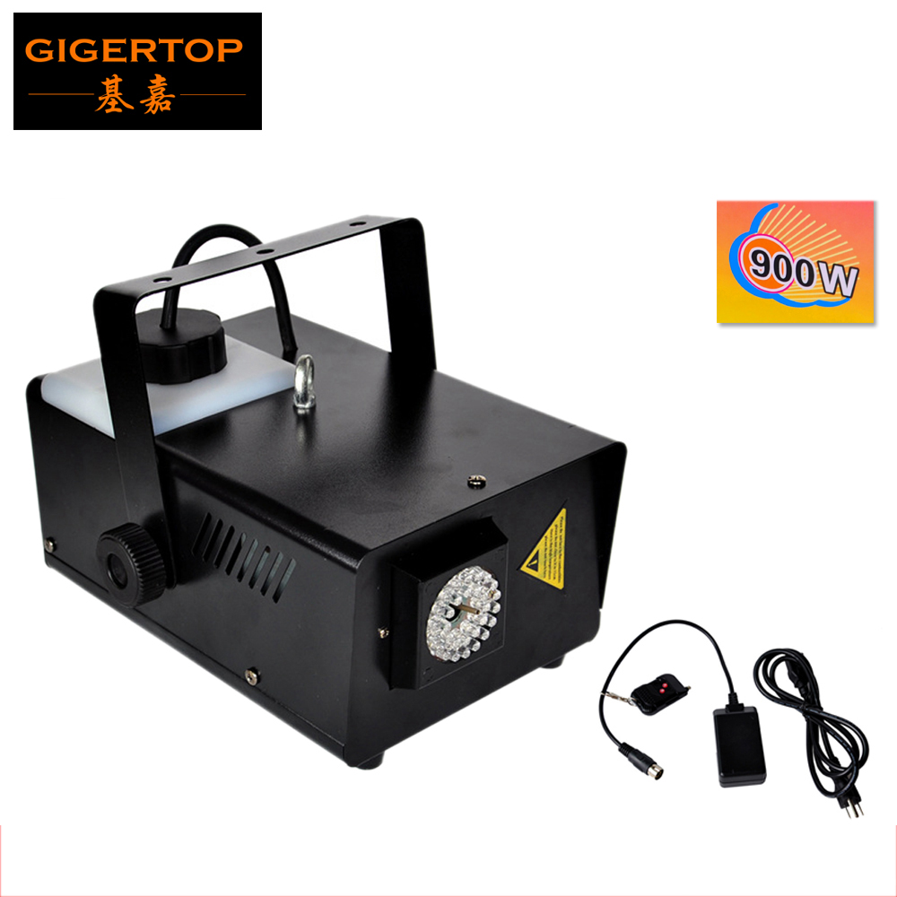 New LED 900W Fog Machine With Remote / Hand Control 30Pcs 10mm Blue Led Smoke Machine Fogger Stage Effect Light TIPTOP TP-T58