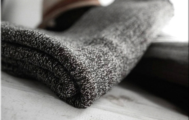 Image 2 - Thick Warm Lic Scarves for Men Black Knitted Men's Winter Scarf Male Gray Ring Carves Winter Knitted Infinity Man Scarf Collar-in Men's Scarves from Apparel Accessories