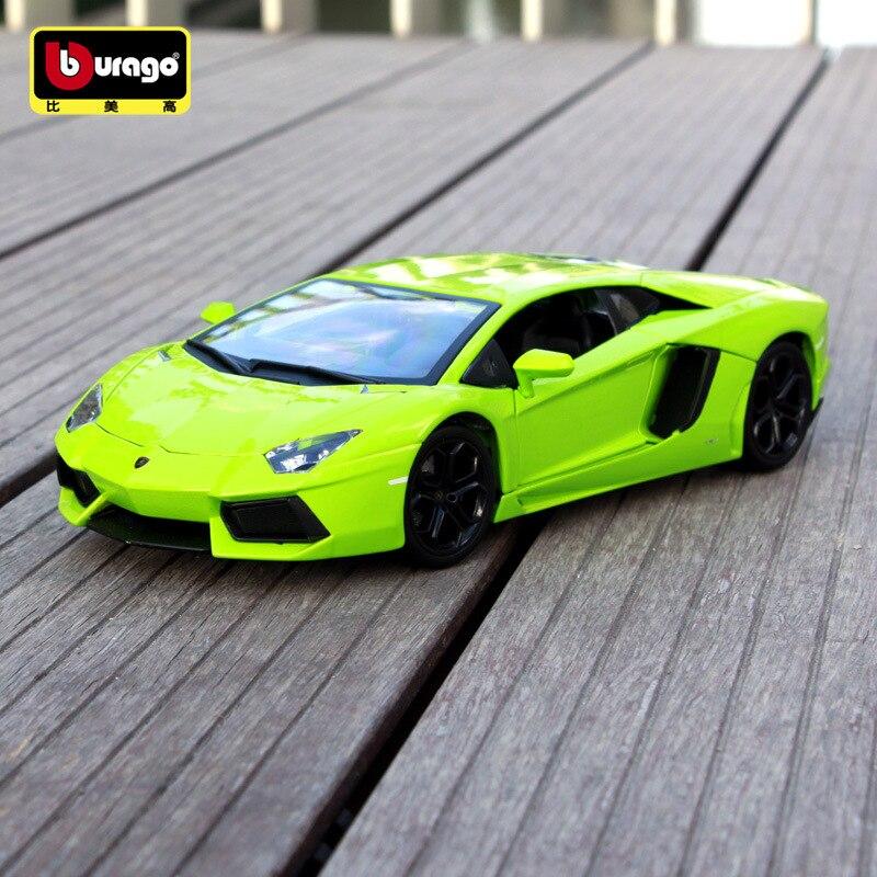 1:18 échelle Pour Aventador Moulé Sous Pression Sport modèle voiture Simulé métal pour voiture jouet modèle avec cache de volant contrôle roue avant de direction