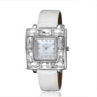 Luxus Große Größe Strass Uhr HK Marke MELISSA Frauen Kleid armbanduhr Platz Lederband Uhren Feminino Montre F11791-in Damenuhren aus Uhren bei