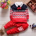 2016 Baby Boys Autumn Casual Clothing Set Baby Kids Button Letter Bow Clothing Sets Babe jacket + pant 2-Piece Suit Set  M1258