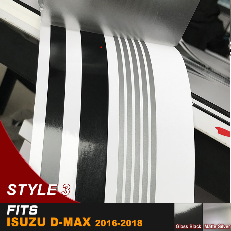 d max stripe side door graphic Vinyl racing car sticker for isuzu d max CABINE CREW 4X4 2012 2018 in Car Stickers from Automobiles Motorcycles