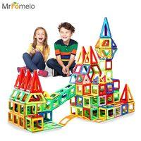 MrPomelo מגנטי סט בנייה להאיר גילוי מעצב Creative אבני בניין לילדים צעצועים חינוכיים לילדים