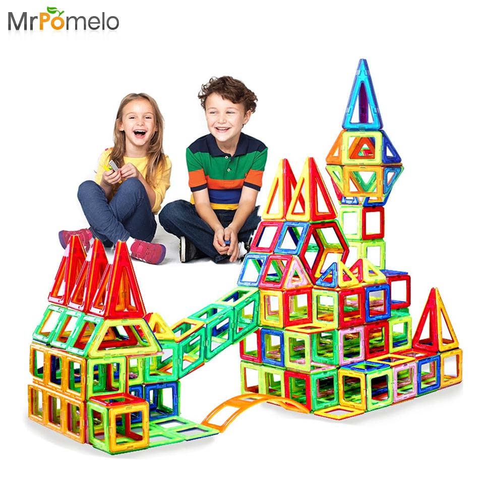 Building Toys For Teenagers : Mrpomelo magnetic construction set enlighten creative
