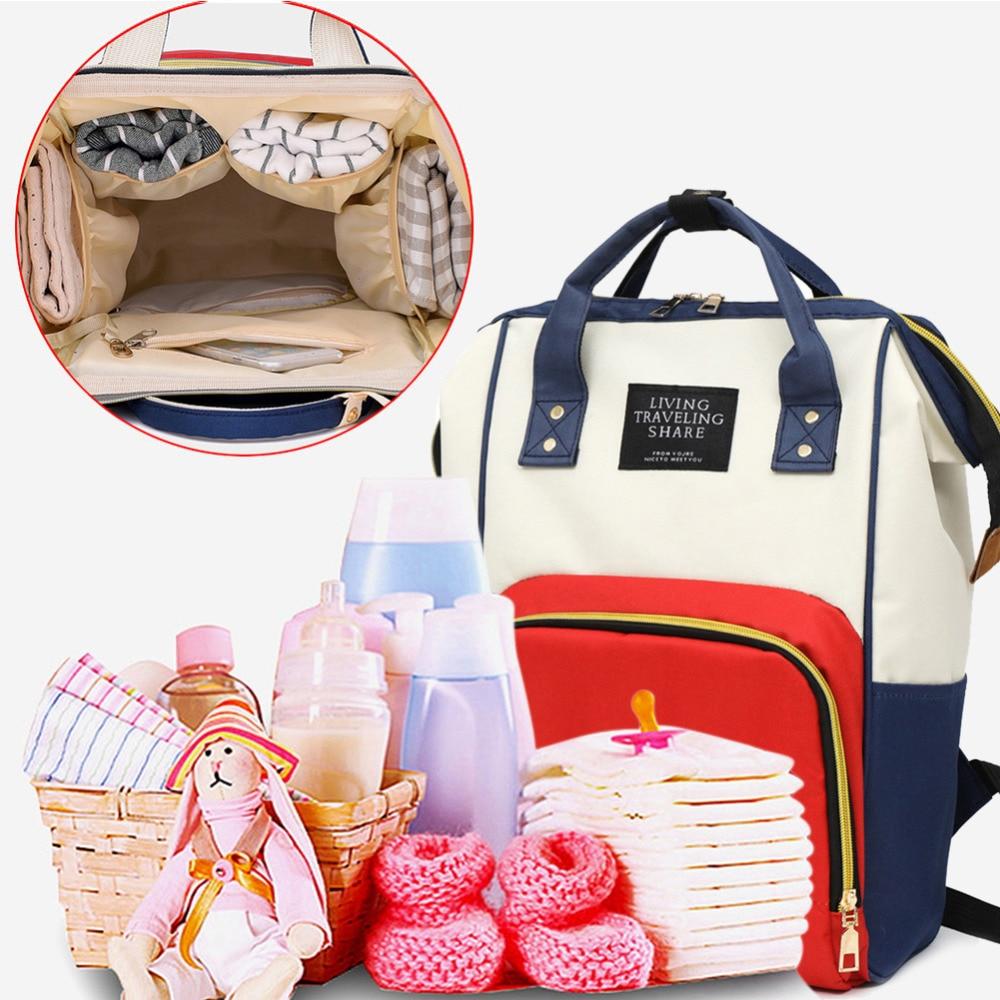 Large Capacity Mummy Diaper Bags Zipper Mother Travel Backpacks Maternity Handbags Pregnant Women Baby Nappy Nursing Diaper Bags