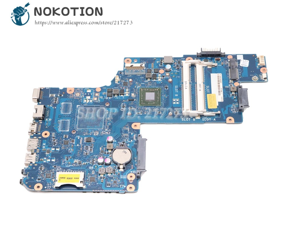 NOKOTION For Toshiba Satellite C50 C50D C50-D Laptop Motherboard H000062940 PT10AN DSC MB MAIN BOARD With Processor Onboard