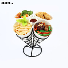 1sets Chips Fry Basket Serving Food French Fries Basket Western Cafe Bar KTV dessert pastry basket of fried chicken snack