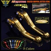 Laser Logo CBR RR Gold CNC 2 Finger Short Motorcycle Brake Clutch Levers For Honda CBR900RR