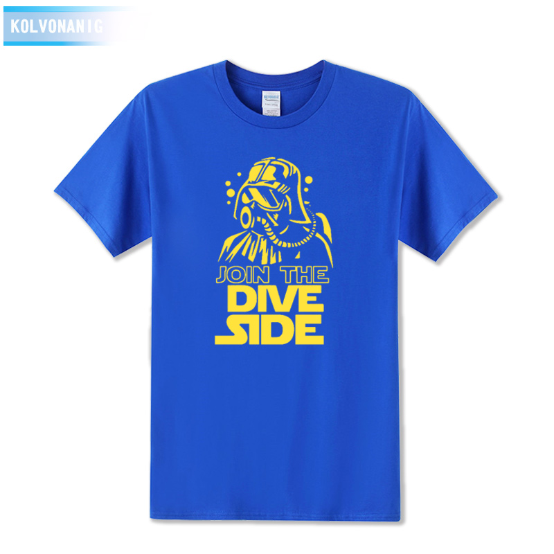 JOIN THE DIVE SIDE DARK Underwater Printed T Shirt Tracksuit For Men Short Sleeve O-Neck T-Shirt Tshirts Dresses For Men Top Tee