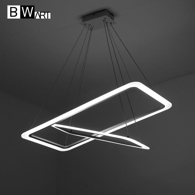 large lighting fixtures. BWART Modern LED Chandelier Luxury Living Room Led Lamp Large Rectangular Frames Hanging Lighting Fixtures Chandeliers Lustre E