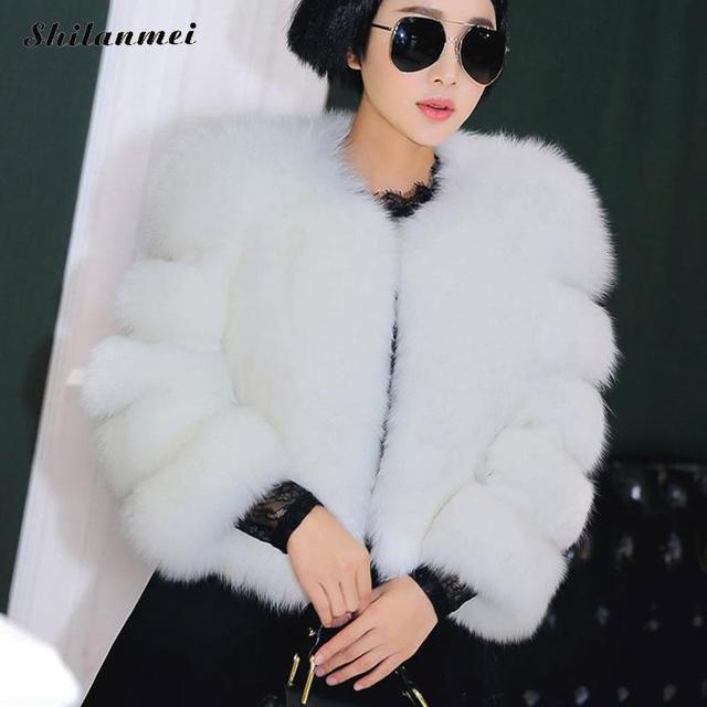 Veste fourrure femme blanc