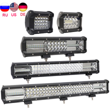 12v 24v 4x4 Led light bar car work light focos automovil spot light offroad accessories barra light for Truck jeep wrangler tj auxmart led bar 22 324w for jeep wrangler jk 2007 2018 led light bar work light offroad lamp for jeep wrangler unlimited jku