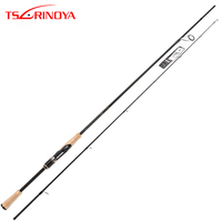 TSURINOYA PROFLEX II  2.01m 2.13m Spinning Fishing Rod 2 SectionML/M Power Canne A Peche Carbon Fishing Pole FUJI Accessories