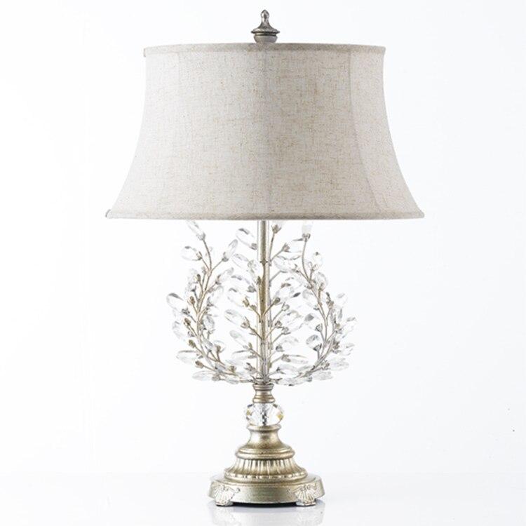 Американский стиль Настольные лампы кристалл антикварная лампа Европейский Стиль Простые Модные Гостиная Кабинет прикроватная тумбочка д...