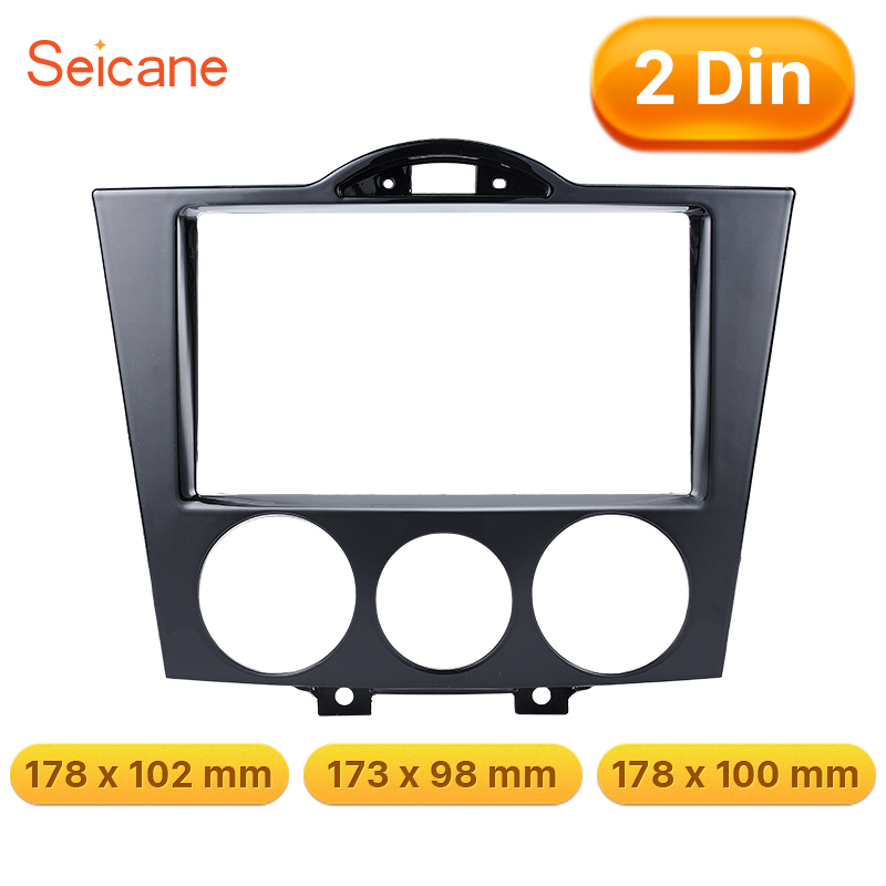 Seicane Black 178*100mm 2Din Car Stereo Fascia Trim Kit DVD CD Panel Frame Refitting Dashboard For Mazda RX8Seicane Black 178*100mm 2Din Car Stereo Fascia Trim Kit DVD CD Panel Frame Refitting Dashboard For Mazda RX8