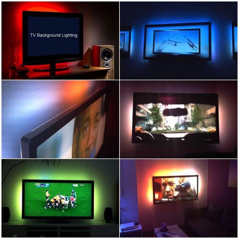 5v Usb Led Strip 5050 Rgb Tv Background Lighting 60ledsm Mood Light
