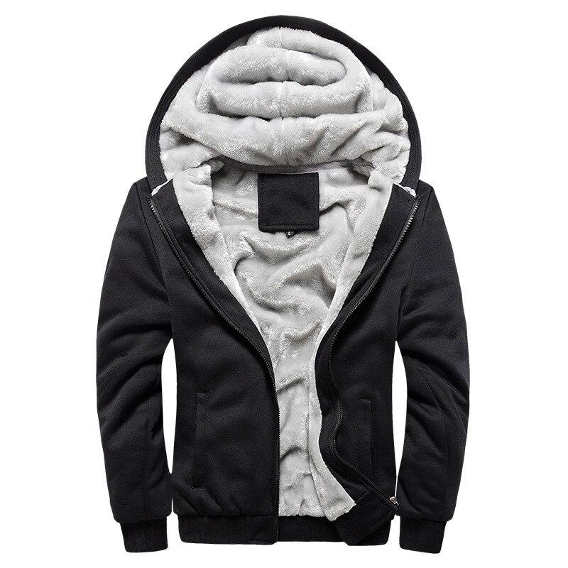 Plus Size 4XL Men Hoddies Autumn Winter Warm Thick Mens Sweatshirt Casual Zipper Tracksuit Sweatshirts