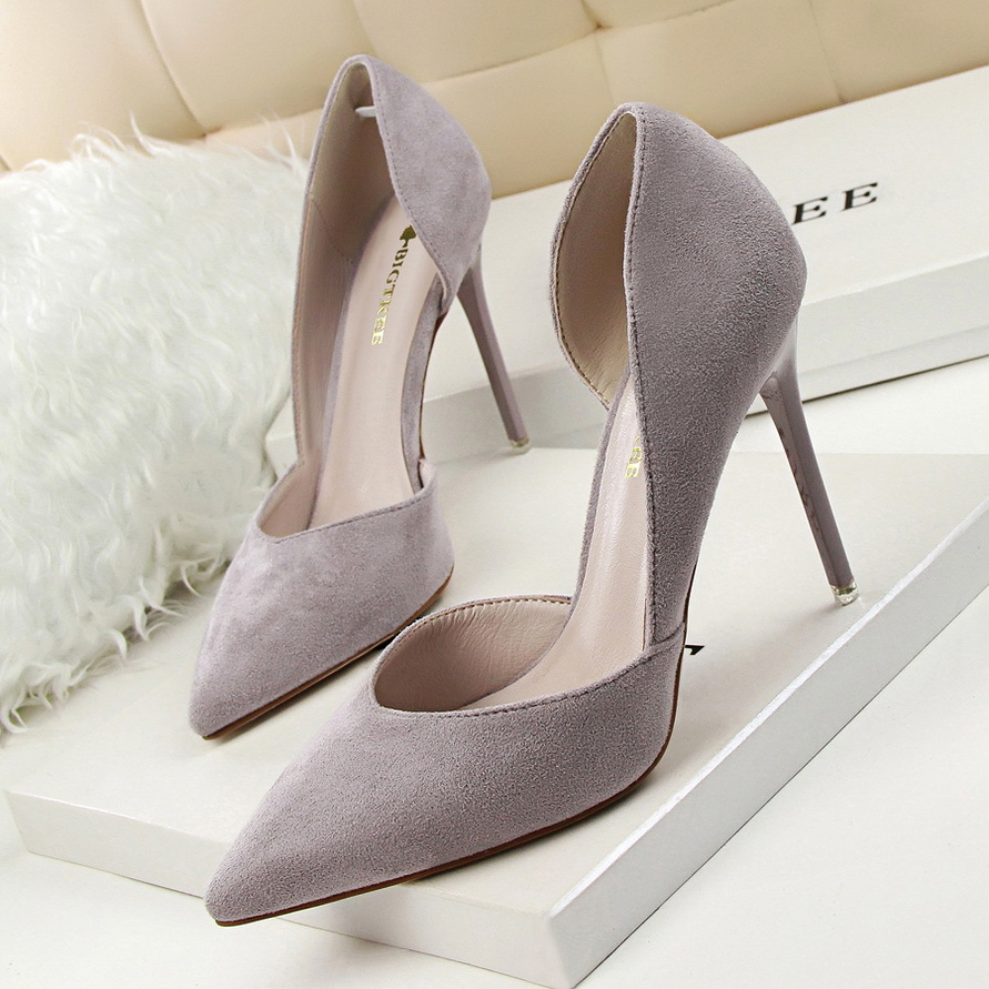 2019 Spring Summer Women Pumps Shallow Hollow High Heels With 10cm Women Shoes  Party Wedding Stiletto 3168-6