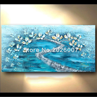 Hand Painted Abstract Thick Palette Knife Oil Painting On Canvas Gold Flower Fantasy Color Abstract Decor