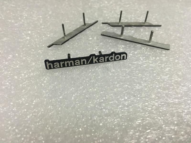 50pcs lot harman kardon Hi Fi Speaker audio Speaker 3D Aluminum Badge Emblem stereo with 2